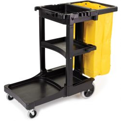 RUBBERMAID JANITORIAL CLEANING CART WITH VINYL BAG