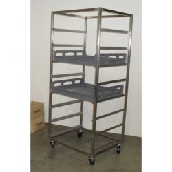 PREMIUM QUALITY FULLY WELDED BREAD CRATE TROLLEY - 8 TRAY
