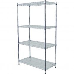 CHROME DISPLAY SHELVING
