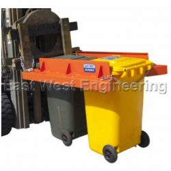 FORKLIFT ATTACHMENT DUAL WHEELIE BIN LIFTER / TIPPER