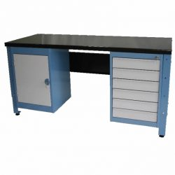 STANDARD MODULAR WORKBENCH + 6 X DRAWER UNITS + 1 X CUPBOARD UNIT