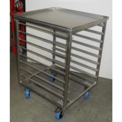 PREMIUM QUALITY FULLY WELDED GASTRONORM TROLLEY - 8 TRAY