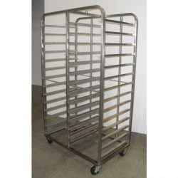 PREMIUM QUALITY FULLY WELDED GASTRONORM TROLLEY - 28 TRAY