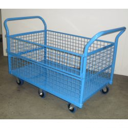 MESH PLATFORM TROLLEY WITH REMOVABLE MESH SIDES
