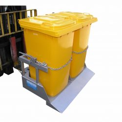 FORKLIFT ATTACHMENT DUAL WHEELIE BIN TIPPER TYPE NWB