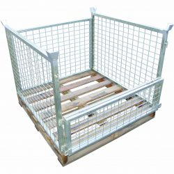 TIMBER PALLET CAGES FLATPACKED
