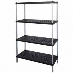 POST STYLE COOLROOM SHELVING - ABS PLASTIC SHELVES