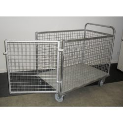 MESH PLATFORM TROLLEY WITH REMOVABLE FRONT