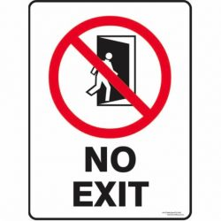 SAFETY SIGNS - PROHIBITION SIGNS