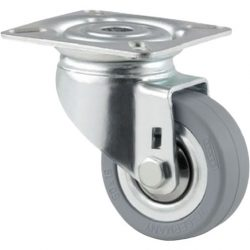 .50MM DIA CASTORS - ZINC PLATED - PLATE & BOLT HOLE