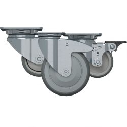 AGILA SERIES CASTORS - ZINC PLATED & STAINLESS STEEL